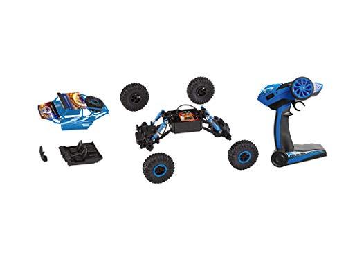 RC Auto kaufen Crawler Bild 2: Revell Control Technik 24712 RC Car, Konstruktionsbausatz Crawler, 2.4GHz, 4WD Allradantrieb, Off-Road-Reifen, Do-It-Yourself, ferngesteuertes Auto zum Selberbauen, blau, 27,5 cm*
