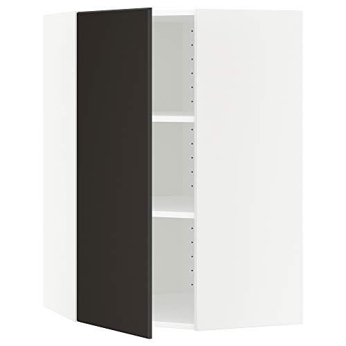 METOD hörnväggskåp med hyllor 67,5 x 67,5 x 100 cm vit/Kungsbacka antracit