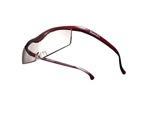Hazuki ハズキルーペ 直営店 公式店 限定 倍率交換保証付き コンパクト 1.85倍 カラーレンズ 赤 ハズキ 拡大鏡 ルーペ メガネ型 眼鏡型 めがね型 メガネ 眼鏡 めがね 日本製 MADE IN JAPAN ギフト