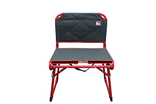 Outdoor Spectator Deluxe Fold&GO Wide Padded Stadium Seat for Bleachers Convertible Low Profile Camping Chair (225 lb. Capacity)