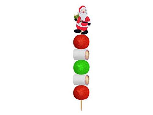 CAPRILO Lote de 20 Brochetas de Golosinas Papá Noel Navidad Juguetes y...