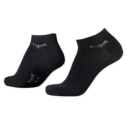 Bugatti Mens Sneaker Socks 3er Pack 6765 610 schwarz Strumpf Socke Füsslinge, Size:43-46