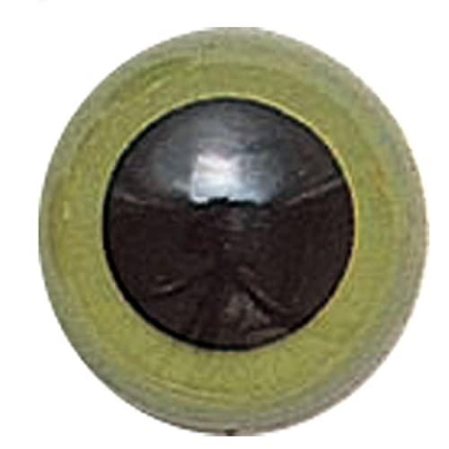 ぬいぐるみ・マスコット用の目グリーン(プラスチックアイ)縫い付け式 9mm-15mm※サイズにより個数が異なります(12-24個)布製の縫いぐるみ手芸用 フェルト手芸用 手作りキット 手作りウェルカムドール diy 緑の目 (15mm×12個(430-31