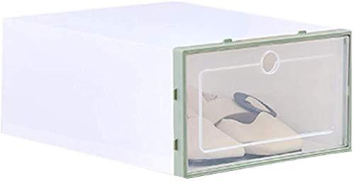 qazxsw Organizador de Ranuras para Zapatos Estantes para Zapatos Caja de Zapatos abatible Estuche de cajón Transparente Estuche de plástico apilable para Almacenamiento de Zapatos Ca
