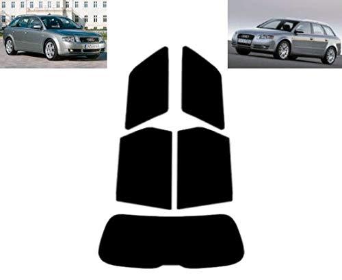 Láminas Solares para Tintar Las Lunas del Coche-Audi A4 5-Puertas Familiar 2001-2008 Ventanas Traseras & Luna Trasera (20% Oscuro Ahumado)