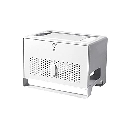 duhe189014 Caja de Almacenamiento de enrutador WiFi Organizador de extensión de Enchufe de Cable de protección Ambiental de Gran Capacidad efficiently
