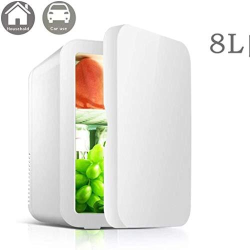 XUHRA 8L Mini-Kühlschrank Cooler & Warmer   Kompakt, beweglich und Quiet 12V DC Strom Compatibility,White(b)