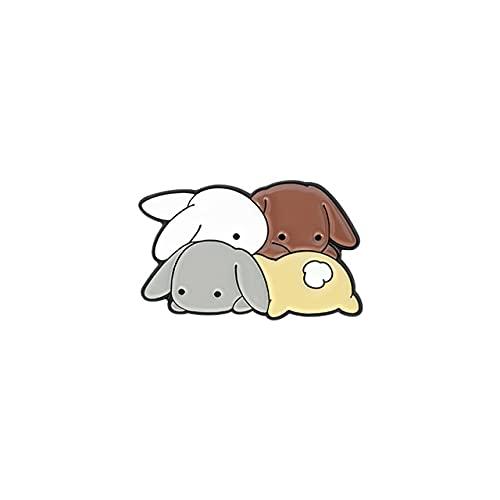 Conejos Parque Esmalte Pin Personalizado Libro Tijeras Conejito Gatos Broche Solapa Insignia Bolsa Dibujos Animados Joyería Regalo Para Niños Amigos