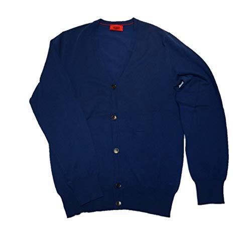 Hugo Red Veste en tricot Sidorton Bleu foncé Taille L