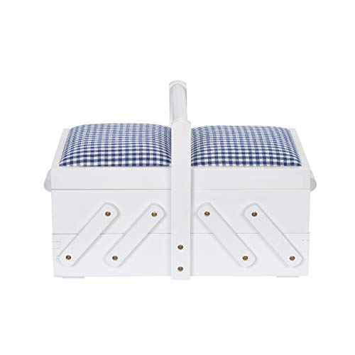 Prym 612577 - Costurero (madera, con tela), color blanco