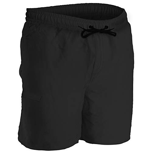 Men's Boardshorts - M - Black - Perfect Swimsuit, Swim Trunks, Board Shorts, Workout or Athletic Shorts for The Beach, Lifting, Running, Surfing, Pool, Gym. for Adults, Men's Boys