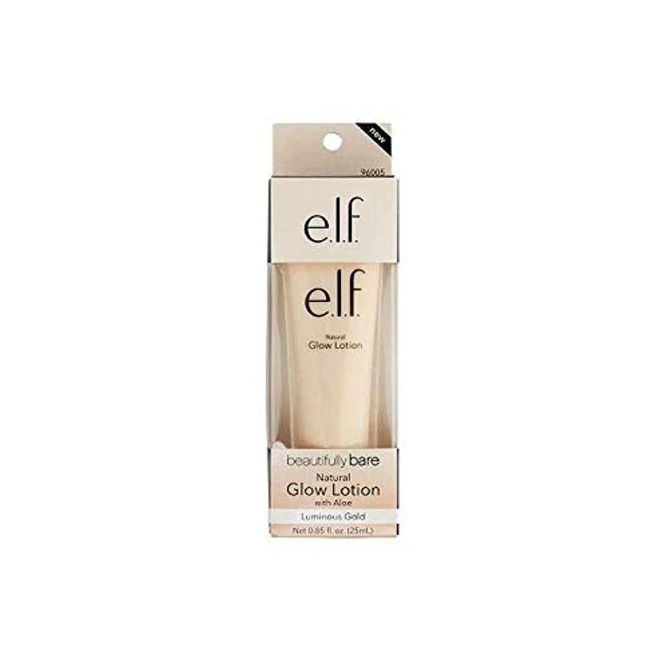 虚弱毒性昇進[Elf ] エルフ。美しく裸自然グローローション金 - e.l.f. Beautifully Bare Natural Glow Lotion gold [並行輸入品]