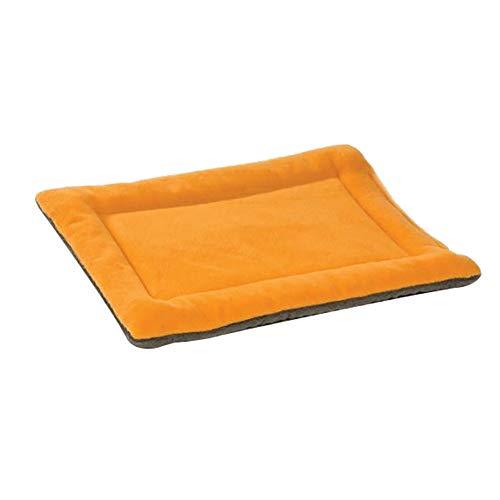 Vommpe Haustiermatte Weich Plüsch PET-Matratze Hundehütte Volltonfarbe Orange Hundedecke Verschiedene Größen Rechteckig Katzendecke-L-89 * 56 * 3CM
