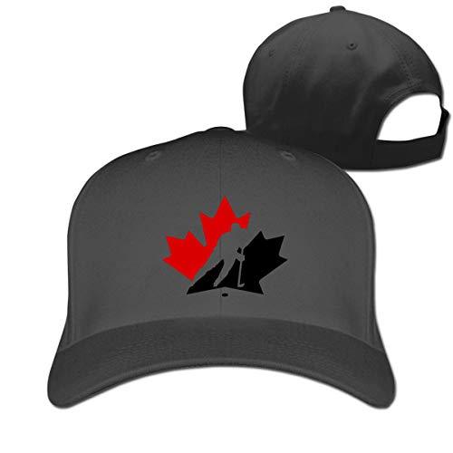 haochenshagamo Pure Color Peaked Cap Canada Maple Ice Hockey Dad Baseball Hats Men Women Black