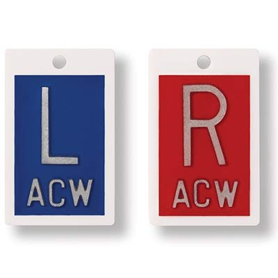 Plastic X-Ray Markers - Blue/Red, Left & Right Set,