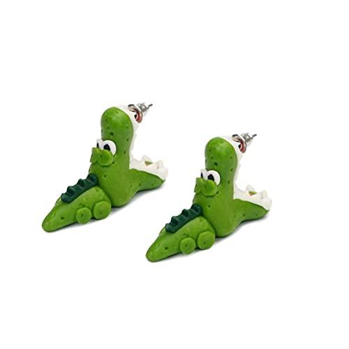 MSTSCKOWEPR - Orecchini a perno con orecchie da mordere in 3D con animali a forma di animale, adorabili orecchini a forma di dinosauro con morso di dinosauro, adatti per donne e ragazze