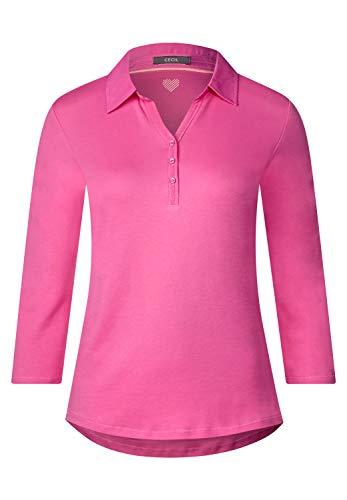 Cecil Damen 313062 T-Shirt, Bubblegum pink, X-Small(Herstellergröße:XS)