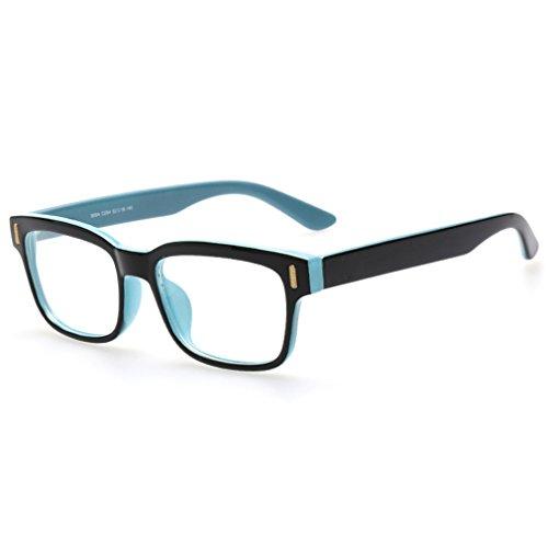 Rnow Premium Unisex Retro Square Frame Eyeglasses Fashion Optical Eyewears