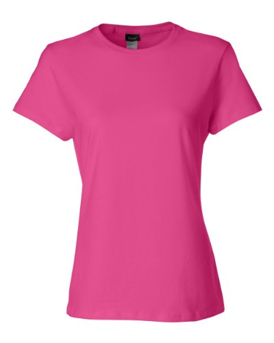 Hanes Camiseta de algod¨®n Nano-T para mujer, M, Wow Pink