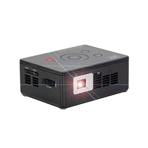Zengqhui Proyector Bluetooth 4.0 Dual WiFi Proyector DLP 854x480 3000 lúmenes del proyector del LED Mini Cine en casa (Color : Black, Size : One Size)