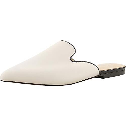 botkier Womens Palmer Leather Slide On Mules Beige 6 Medium (B,M)