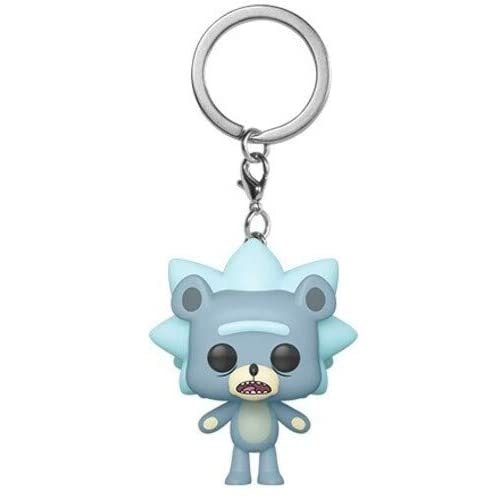 Funko Pocket Pop Keychain Rick And Morty: Teddy Rick Vinyl Figure #44747