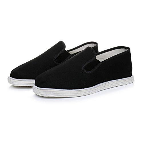Xu-shoes Zapatillas de Entrenamiento de Artes Marciales China Tradicional Zapatos-Hombres Unisex cómodos de Kung Fu Casual tradiciones Chinas Zapatos (Size : M EUR 42)