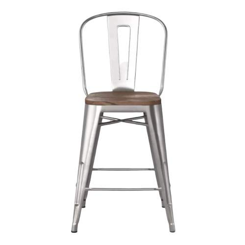 24u0022 Carlisle Metal Counter Stool with Wood Seat Natural - Threshold™