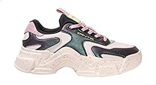 Anta Color-Block Patterned Sole Side-Logo Low-Top Lace-Up Sneakers for Women - Multi Color, 40 EU
