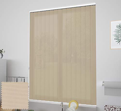EB ESTORES BARATOS Cortina de Lamas Verticales Tecnoscreen/Bloqueo UV 70% con Transparencia. Lo ajustamos a su Medida Ancho x Alto. Color: Lino. Medidas: 50cm x 120cm
