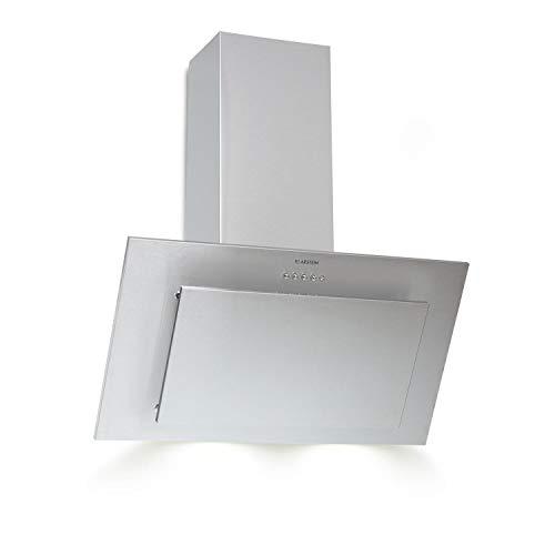Klarstein Athena Dunstabzugshaube 60 cm mit 350 m³/h Abluftleistung - Silver Edition, Energieeffizienzklasse B, komplett aus gebürstetem Edelstahl, LED-Beleuchtung, umrüstbar, silber