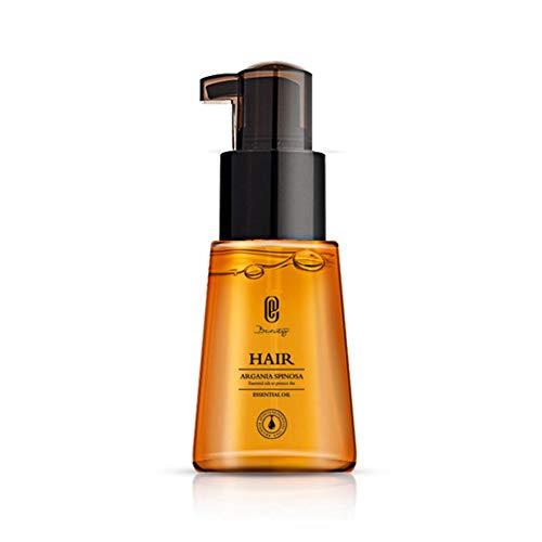 Qianren Sérum anti-frisottis, huile essentielle de noix du Maroc 70 ml, huile de soin capillaire nourrissant cuir chevelu anti-cheveux traitement des cheveux fendus