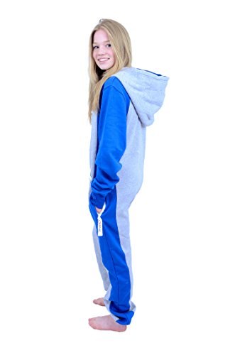 The Classic Unisex Onesie in Sports Grey and Royal Sides - 2