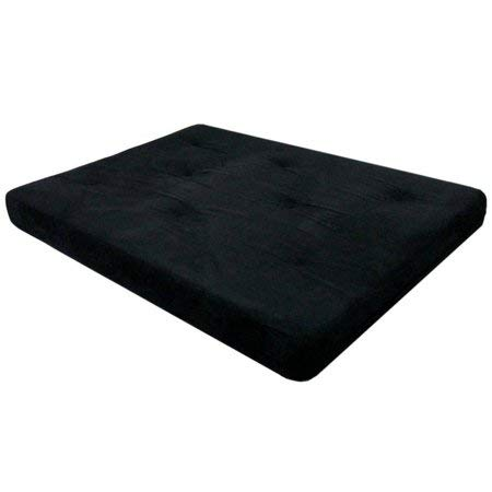 Futon Mattress 6 inch Tufted (Mattress Only) - (1, Black)