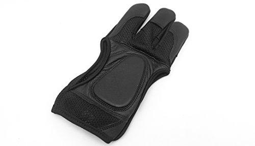Guantes de malla de calidad, negros, guantes para tiro con arco, small