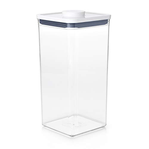 OXO Good Grips POP Container - Airtight Food Storage - 6.0 Qt for Bulk Food and More,Transparent,6.0 Qt - Square - Bulk Food