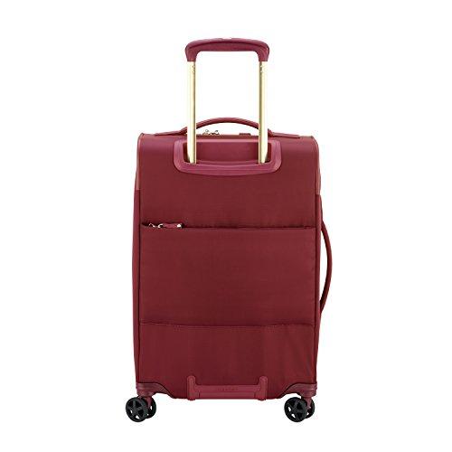 DelseyデルセーMONTROUGEソフトスーツケースキャリーバッグソフトキャリーケース超軽量容量拡張可能機内持ち込みサイズ/mサイズ/lサイズ5年間保証(45L&レッド)