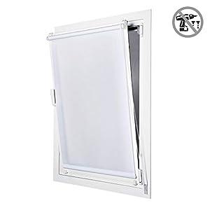 STORESDECO Estor Enrollable traslúcido EasyFix, fácil instalación sin taladrar, Ideal para Ventanas abatibles (45 cm x 180 cm, Blanco)