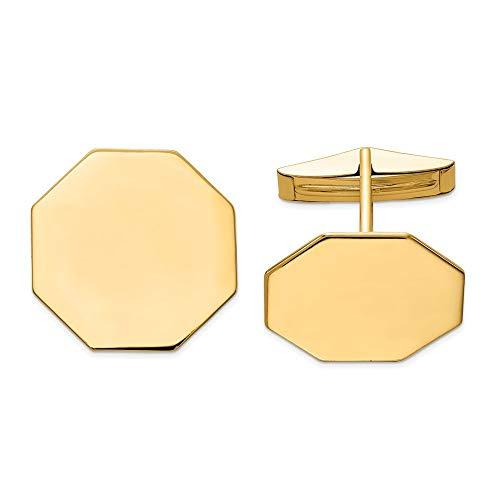 Octogone manchette 14 carats-JewelryWeb