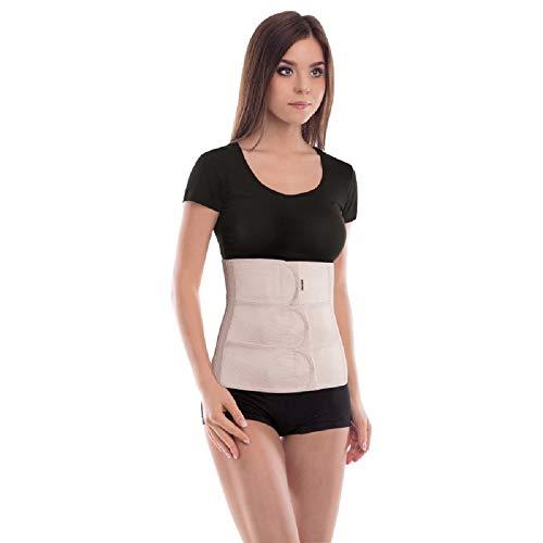 Cinturón abdominal de sujeción; Sujeción de espalda; Banda de sujeción abdominal; Cinturón de soporte postoperatorio; 31cm de altura Large Beige