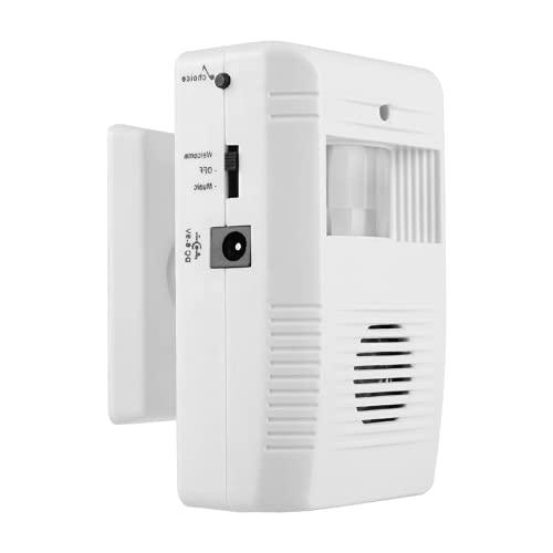 Sensor De Bienvenida, Alarma De Entrada De Hogar De Movimiento Infrarrojo Blanco para Fábricas para Almacenes