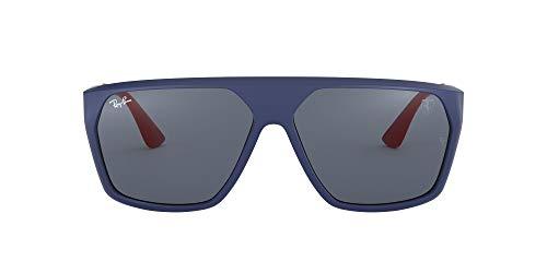 Ray-Ban Junior heren 0RB4309M F60487 61 zonnebril, mat donkerblauw/donkergrijs,