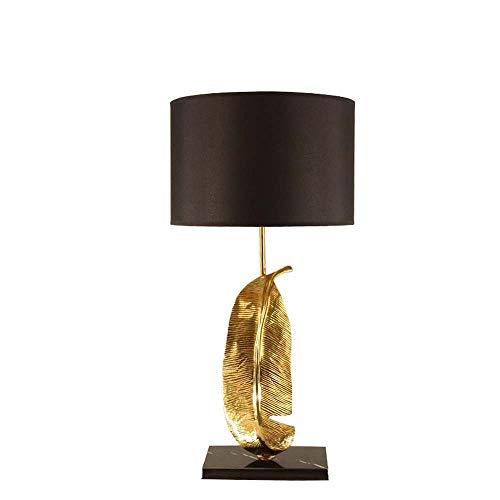 XFSE Lámpara de Mesa Toda la lámpara LED de Cobre Luces de la Sala de Estar Modernas de la Villa de la lámpara del Dormitorio de la Villa Estudio de Las Hojas Simples de Las Hojas 35 cm * 72cm