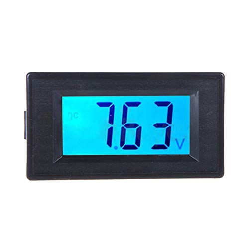 Hemobllo DC 7.5-19.99V LCD Affichage Numérique Tension Voltmètre Ampèremètre (Noir)