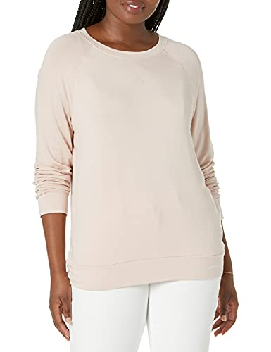 Amazon Brand - Daily Ritual Women's Supersoft Terry Raglan Sweatshirt, Rose, Medium