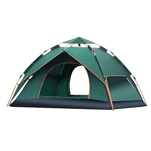 BAIYAN Tienda de campaña al Aire Libre, Tienda de Camping, Doble Capa Impermeable Protección UV Protección UV Durable Senderismo Escalada Jardín Pesca Picnic Color: Verde, Tamaño: 210x150x110cm