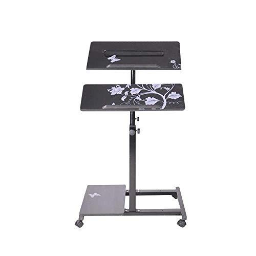 Home Beistelltische Einfacher Laptop-Schreibtisch Einfacher Desktop-Home-Schreibtisch Abnehmbarer Lift Nachttisch, BOSS LV, Schwarz
