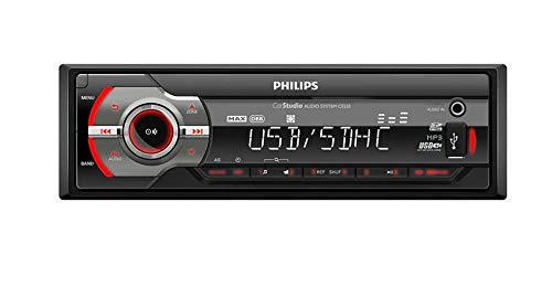 Philips CE233 / 10, Autoradio Sin Mecánica - Audio Portátil MP3 / WMA, MAX Sound, Pantalla LCD, Tarjeta SD, Entrada USB/SDHC, 4X50W, RDS, 4 amplificadores de 50W, 1 DIN - Negro