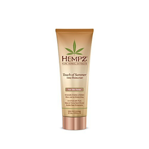 Hempz Touch of Summer Daily Moisturizer, Fair Skin Tones, 8 Fluid Ounce