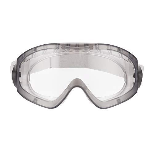 3M Schutzbrille für Elektroarbeiten 2890SC1, klar/grau – Vollsichtschutzbrille für Elektrowerkzeug- & Farbspritzarbeiten – Anti-Kratz- & Anti-Beschlag-Beschichtung